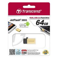 Micro-USB Flash Drive Transcend JetFlash 380 Gold 64Gb