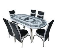 Set oval 101 + 6 scaune merchan