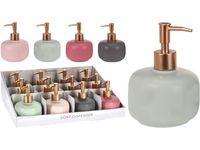 Dozator pentru sapun lichid Flacon, H14.5cm, D10.5cm, ceramica, 4 culori