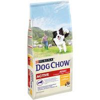 DOG CHOW Active 1kg (для взрослых активных собак, с курицей)