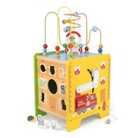 Viga Labirint din lemn 5 in 1 Toy Box