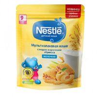 Nestle каша мультизлаковая молочная с медом и кусочками абрикоса, 9+мес. 220г