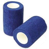 Синяя эластичная связная повязка