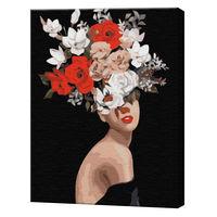 Gânduri în flori, 40х50 cm, pictură pe numere  BS36693