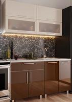 Кухонный гарнитур Bafimob Modern (High Gloss) Mini 1.2m Beige/Brown