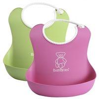 Комплект нагрудников BabyBjorn Soft Bib Pink/Green, 2 шт.