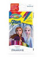 Set de markere cu sclipici 6 culori- Colorino Disney Frozen