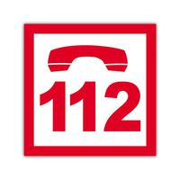 """Наклейка """"112"""" 10x10см"""