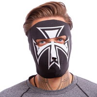 Masca protectie fata /antrenament alergare/ windproof MS Iron Cross (neopren, black) (3836)