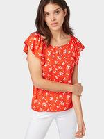 Блуза TOM TAILOR Оранжевый с принтом