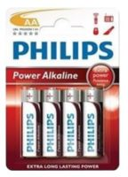 Батарейка Philips Power Alkaline AA (4 шт.), LR6 Power Alkaline B4