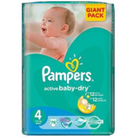Pampers Scutece Giant Pack 4,  7-14 kg, 76 buc.