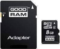 8GB microSD Class4 + SD adapter  GOODRAM M40