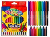 Carioci Fibre Pens 12 cul.  Colorino