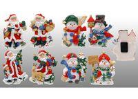 Фигурка керамическая на холодильник Дед Мороз/Cнеговик
