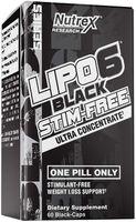 Lipo 6 Black Stim-free 60 Caps