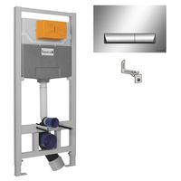 Set de instalare a vasului de closetă IMPRESE 3in1 (instalare, fixări, buton crom PAN)