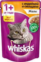Whiskas желе (индейка с овощами) 85гр