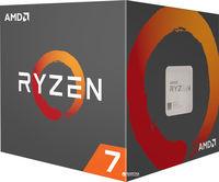 AMD Ryzen 7 1700, Socket AM4, 3.0-3.7GHz (8C/16T), 16MB L3, 14nm 65W, Box (with Wraith Spire LED Cooler)