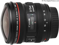 Zoom Lens Canon EF  8-15mm f/4 L USM Fisheye