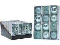 Набор шаров 12X50mm, бирюзовые, в коробке
