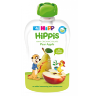 Hipp Hippis пюре сюрприз из груши и яблок, 4+мес. 100г