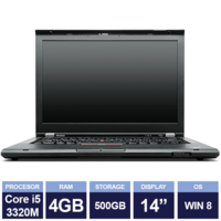 "Ноутбук Lenovo ThinkPad L430 Black (14"" | Intel Core i5 3320M | 4GB RAM | 500 GB HDD | Windows 8)"