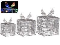"""купить Набор световых фигур """"Подарок-куб"""" 12/15/20сm, 90LED, разноц в Кишинёве"""