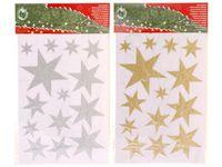 """купить Наклейки новогодние на окна """"звезды"""" 21X35cm в Кишинёве"""