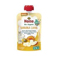 Piure de mere, banane, mango și caise Holle Bio Organic Banana Lama (6 luni+), 100g