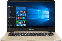 """NB ASUS 14.0"""" Zenbook UX430UA Gold (Core i7-8550U 8Gb 512Gb Win 10) 14.0"""" Full HD (1920x1080) Non-glare, Intel Core i7-8550U (4x Core, 1.8GHz - 4.0GHz, 8Mb), 8Gb (OnBoard) PC3-14900, 512Gb M.2, Intel HD Graphics, micro HDMI, 802.11ac, Bluetooth, 1x USB 3.1 Type C, 1x USB 3.0, 1x USB 2.0, Card Reader, HD Webcam, Windows 10 Home RU, 3-cell 50 WHrs Polymer Battery, Illuminated Keyboard, 1.3kg, Metal Gold"""