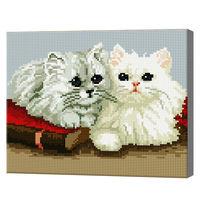 Kошечки, 30x40 см, алмазная мозаика QS200174