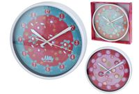 Часы настенные круглые разноцв, D25cm