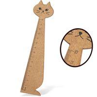 Luromax Линейка LUROMAX Kitty, деревянная, 15 см