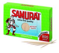 Зубочистки стерилизованные Samurai в картонной упаковке (запаска) 800шт