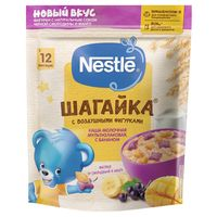 Nestle каша Шагайка мультизлаковая молочная, банан, манго, и черная смородина,12+ мес, 190 гр