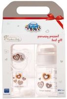 Canpol набор Newborn бутылочка, пустышка и цепочка
