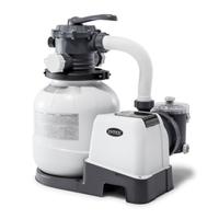 Intex песочный фильтр насос с хлоргенератором Кrystal Clear 10000 л/ч