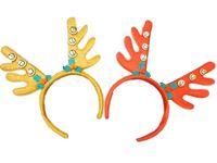 """Обруч карнавальный """"Рога Оленя"""" с колокольчиками, ярких цв"""