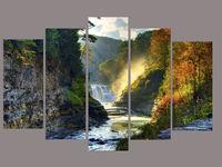 Картина напечатанная на холсте - Триптих Природа 0001