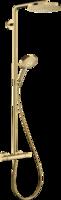 Sistema de  dus hansgrohe Raindance Select S Showerpipe 240 1jet PowderRain cu termostat, Polished Gold Optic