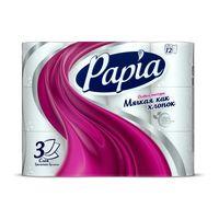 Туалетная бумага Papia Toilet Paper White 3- слойная 12 рулонов