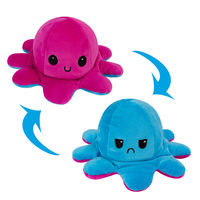 Octopus Plush Reversible, Blue & Purple