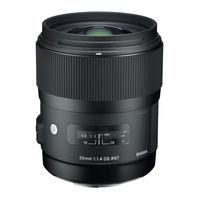 Prime Lens Sigma AF  35mm f/1.4 DG HSM ART F/Nik