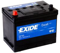 **АКБ Exide  EXCELL 12V  70Ah  540EN  270x173x222 +/- Japan, EB705