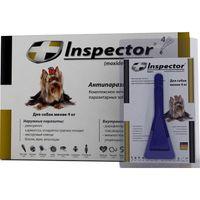 Капли от внешних и внутренних  паразитов для собак до 4кг 1уп*1шт