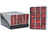купить Набор шаров 12X50mm, красные, в коробке в Кишинёве