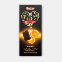 Шоколад темный с апельсином без сахара, без глютена Torras 125г