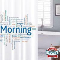 Тканевая штора для ванной ком GOOD MORNING 180х180 см. 17436