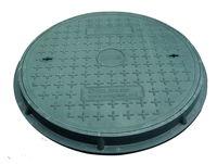 Крышка с рамой для колодца ф.700 х 30/ 2т зел.  (760x45x22kg)